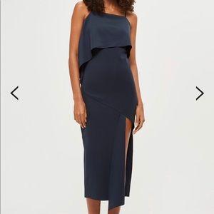 Asymmetric Hem Scuba Dress